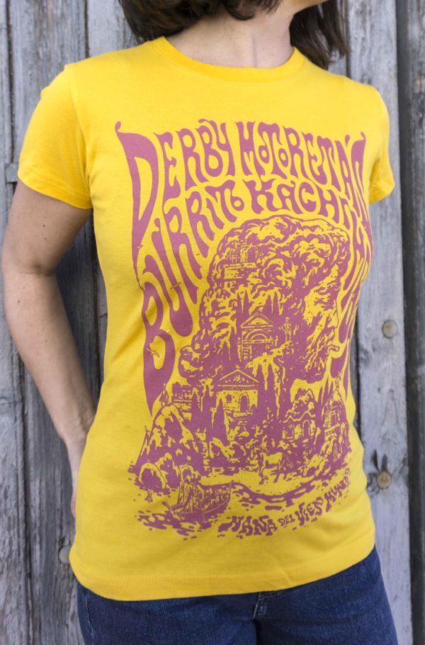 Derby Motoretas Burrito Kachimba Camiseta Mujer